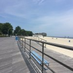 Beach and part of boardwalk at Ocean Beach Park