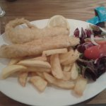 Haddock and chips (poor photo doesn't do food justice)
