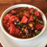 Three Bean Vegetable Chili with Island Corn