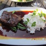 teriyaki glazed short ribs with rice