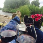 Relax by the river with this great tasting wine!