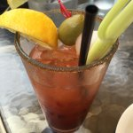 Really great bloody Mary's and good food