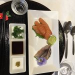 Westray salmon and mackerel sashimi