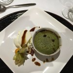 Green tea fondant au chocolate