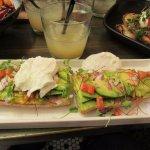 Avocado and ricotta crostini