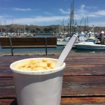 Enjoyed some chowder at the picnic table across the street!