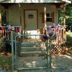 My cabin decorated for the 4th of July.   Many rv sites and rentable rv's also!