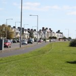 The street across from the sea in Clontarf.