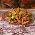 Nice fresh salad with french dressings