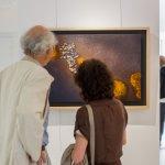 exposition de Steve Brockett pendant NOV'Art, parcours d'art de Villevêque