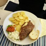 Burger and kebbab meals