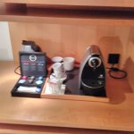 coffee machine etc in room