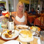 Our last meal at A Carpa, heavenly, mixed kebab and sword fish x