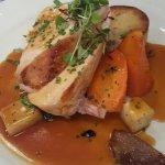 Chicken main .. Blade of beef main & lamb starter