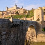 Coming into historic Toledo on our excursion from Madrid