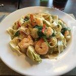 Main Street Pizza - my shrimp-and-pasta entree