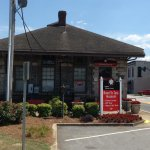 Thee front of the old Jonesboro Train Depot now the home of the Road to Tara Museum
