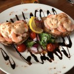 Shrimp open sandwich