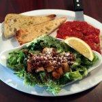 Chicken Parmigiana with Caesar Salad