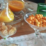 Fresh Gooseberries my favourite offered at breakfast