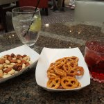 Complimentary bar snacks and drinks!