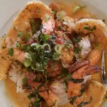 CreoLa -5 gulf shrimp and stuffing with rice