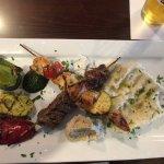 The mixed kebabs at Hapy.