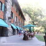 Patio and Grass Area, The Majestic Yosemite Hotel, Yosemite National Park, CA