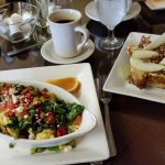 Asparagus & Spinach Scrambler, Apple Pecan Stuffed French Toast