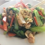 Ordered the Chicken stir fry... Fast service great food.
