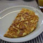 freshly cooked omlette