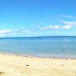 spiaggia con lettini del B&B