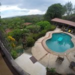 Overlooking the Pool Area From The Library lounging deck