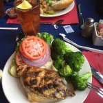 We had a great  lunch at Tessaro's today. My chicken sandwich  and steamed Broccoli was fabulous