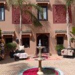 Courtyard inside main building of Kasbah