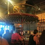 Old Forge Brewing's bar area and the mug wheel