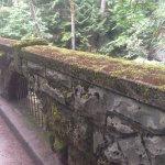 Walking over WPA built bridge.