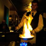 Bananas Foster prepared tableside