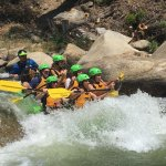 This is me riding a class 3 rapid. Much fun!