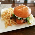 Very yummy fish burger!