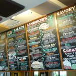 Lots of tasty choices posted on their menu wall!