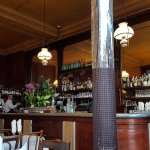 Friendly servers and relaxed, inviting, interior