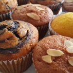 Muffins: Carrot, Vanilla & Chocolate and Corn.
