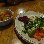 Healthy Soup and Well Arrayed Salad Bar Offerings