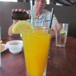 I had fresh squeezed mango juice, amazing. My husband enjoyed a beer.