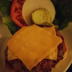 The hamburgery greatness that is served at Woody's Steak House