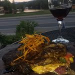 Ribeye steak special with a smooth cabernet to pair with. And what a view! It simply does not ge