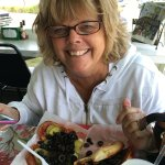 Fan for decades!  When in town this is her lunch venue!!  Pepperoni with pickles and olives.