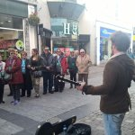 One of my walking tours listening to a street busker