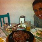 ensaladas y carne